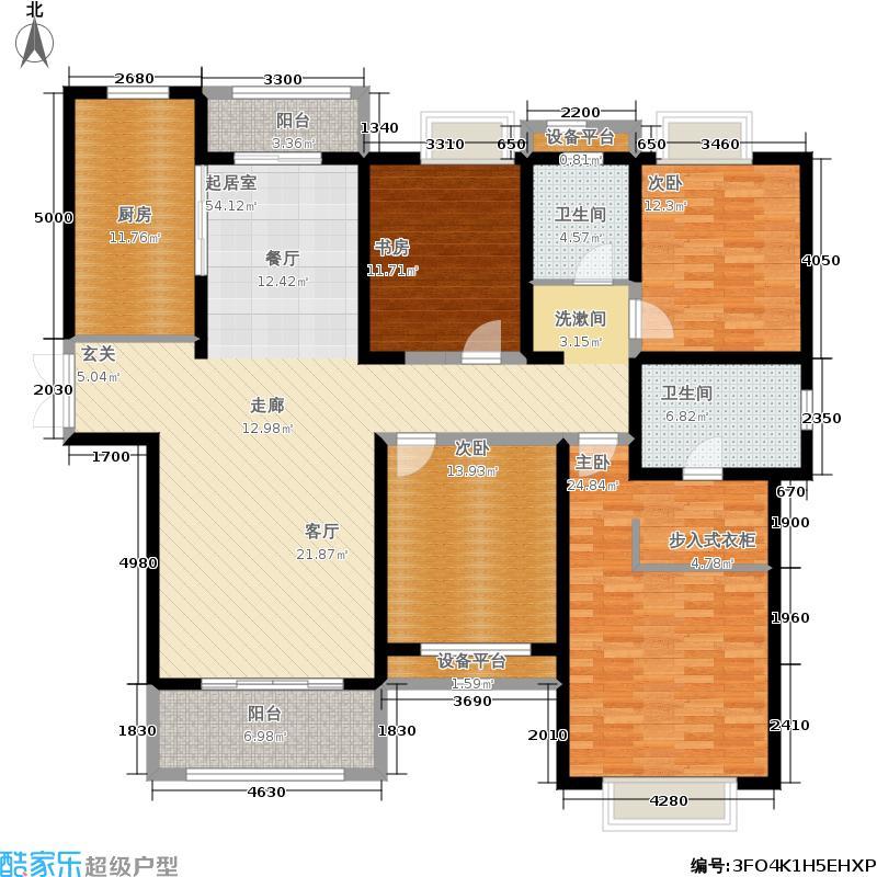 世茂滨江花园174.81㎡二期1#楼D户型