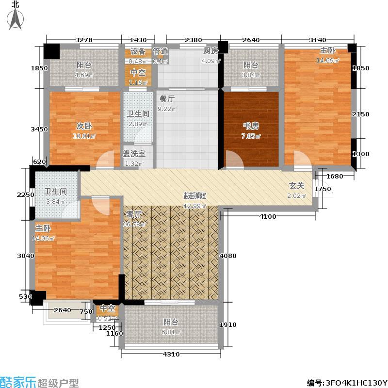 尚好家园135.00㎡6#楼D单元4室户型