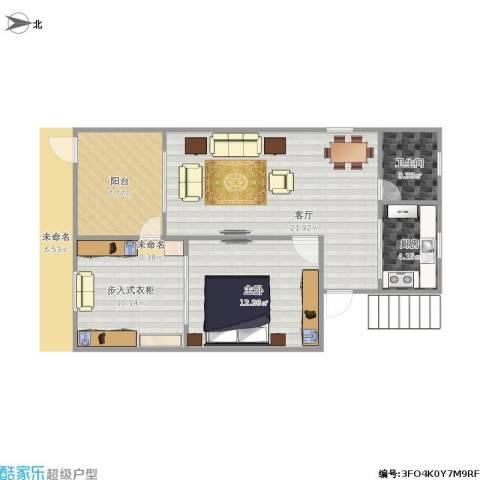场中路3650弄小区1室1厅1卫1厨80.00㎡户型图