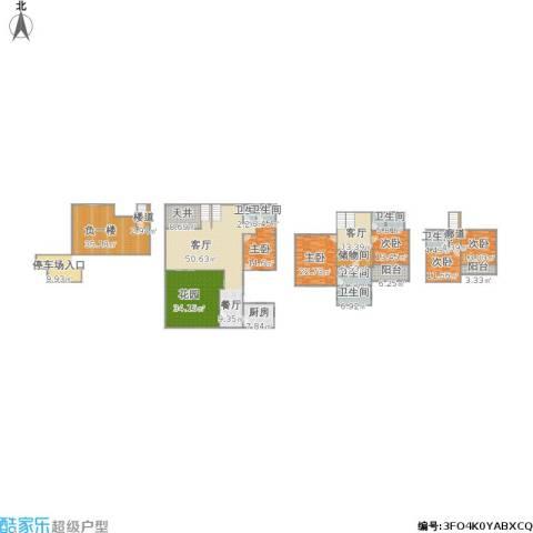 阿卡迪亚5室1厅6卫1厨380.00㎡户型图