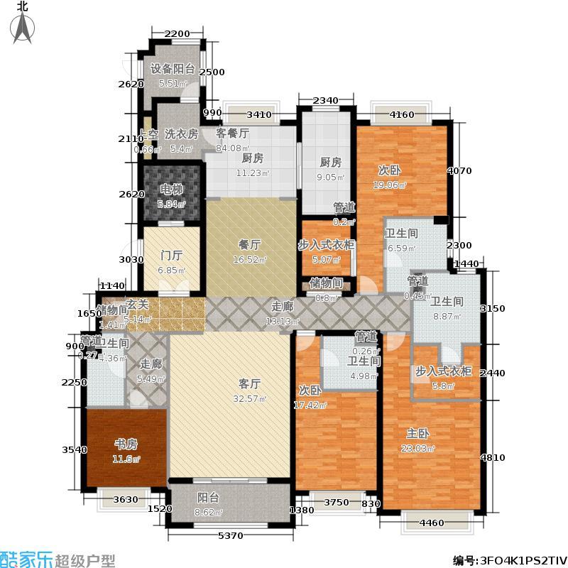 绿洲雅宾利花园三期267.00㎡三期E户型4室3厅