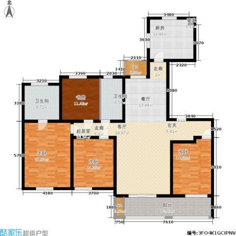 华润绿地・凯旋门4室0厅2卫1厨180.00㎡户型图