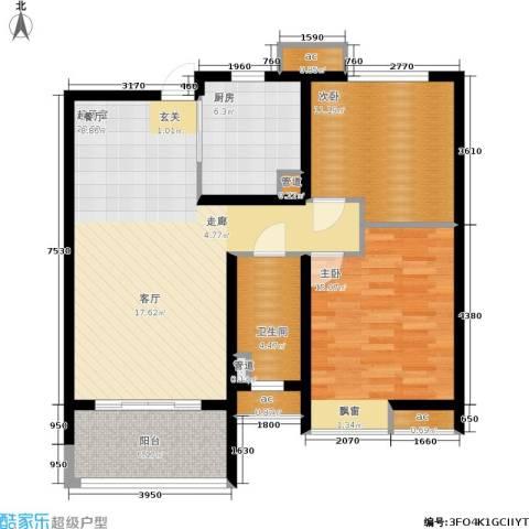 华润绿地・凯旋门2室0厅1卫1厨86.00㎡户型图