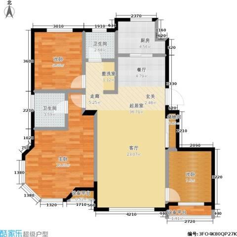 泊林映山3室0厅2卫1厨109.00㎡户型图