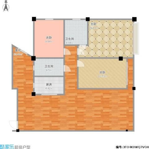版纳一品3室1厅2卫1厨143.00㎡户型图