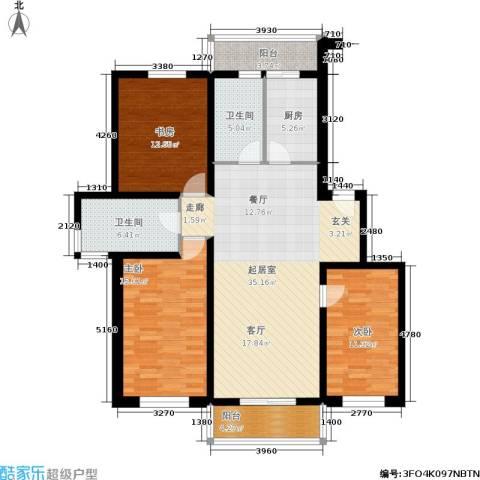 水木康桥一期3室0厅2卫1厨127.00㎡户型图
