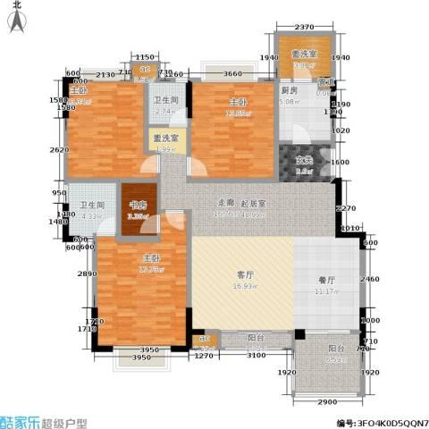 美好家园4室0厅2卫1厨143.00㎡户型图