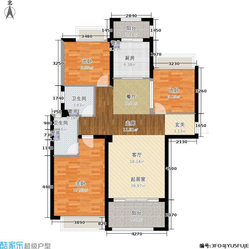 台昇国际广场117.00㎡台�国际广场2#3#5#C户型