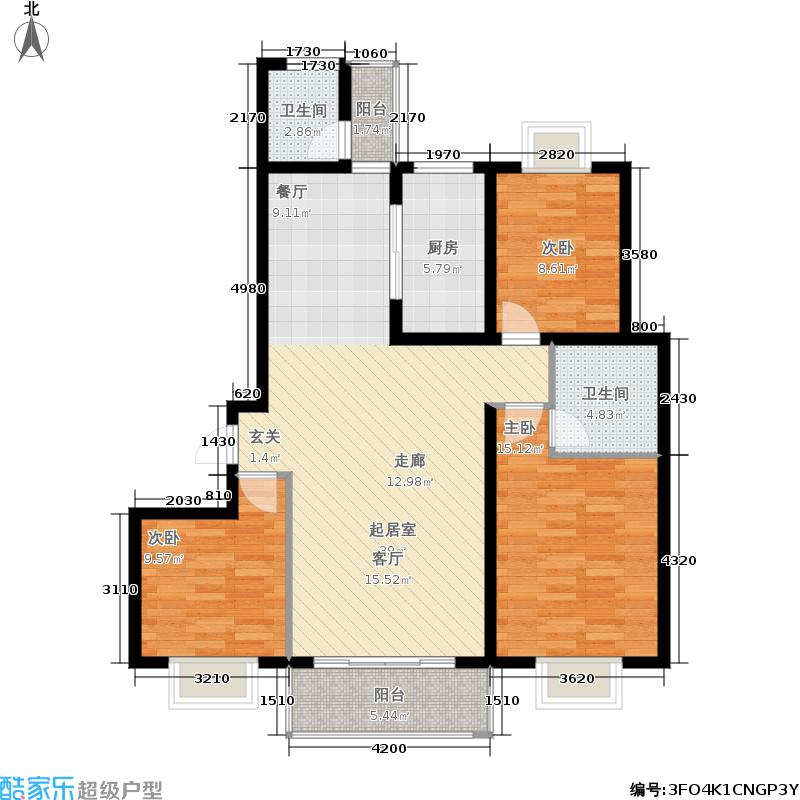 嘉业紫和园94.88㎡嘉业・紫和园huxingtu-(8)户型
