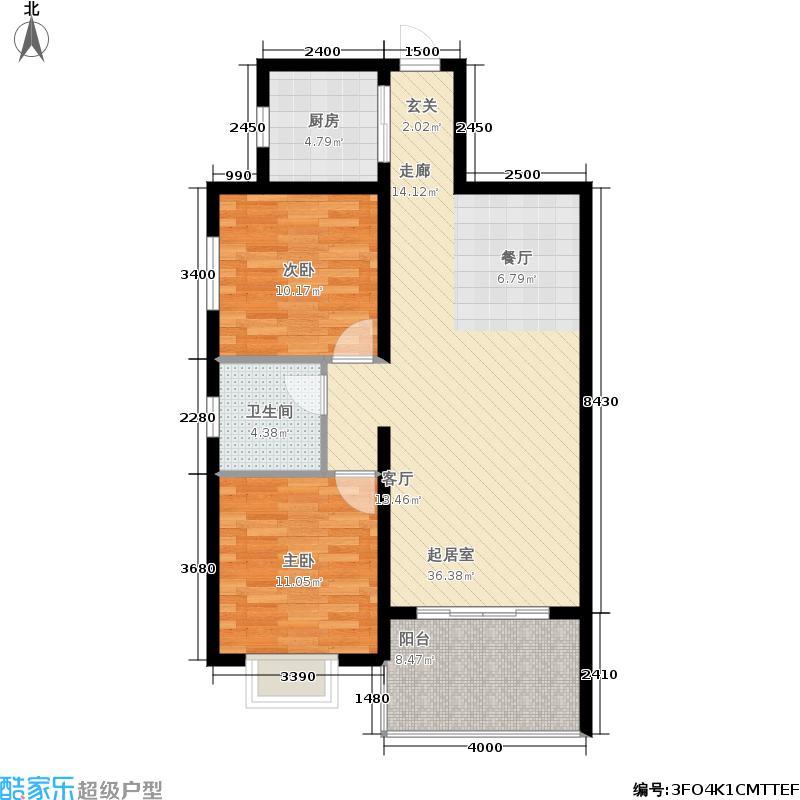 嘉业紫和园89.92㎡嘉业・紫和园huxingtu-(2)户型