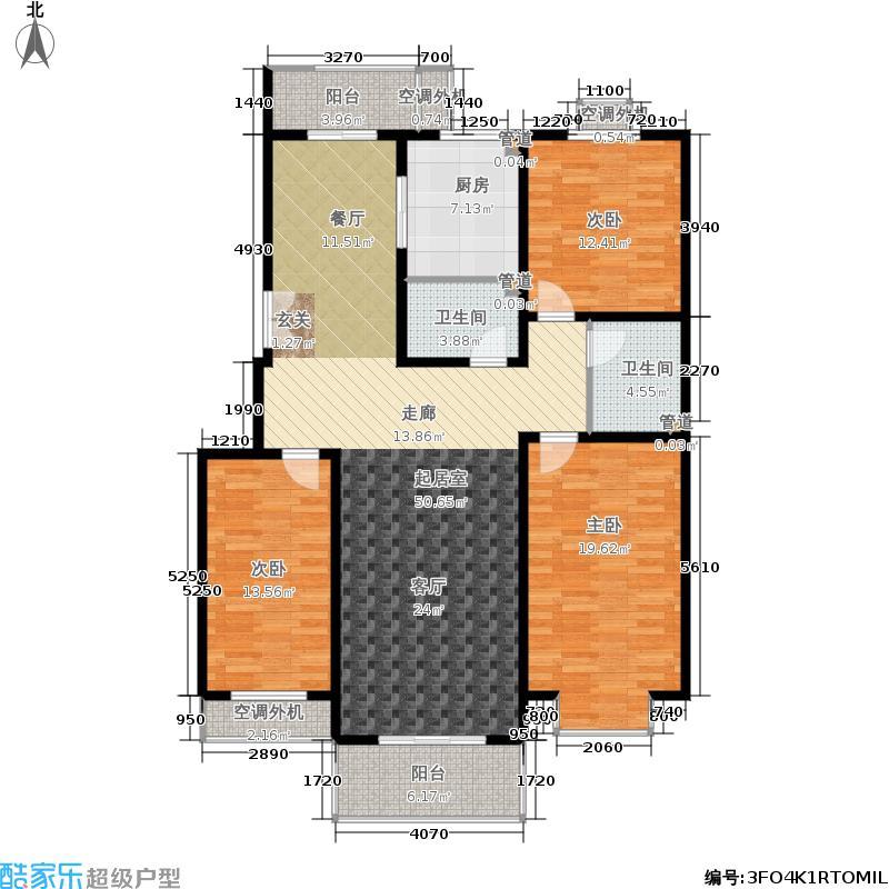 世界名园(燕都国际文化生态社区)135.30㎡世界名园B区B户型3室2厅