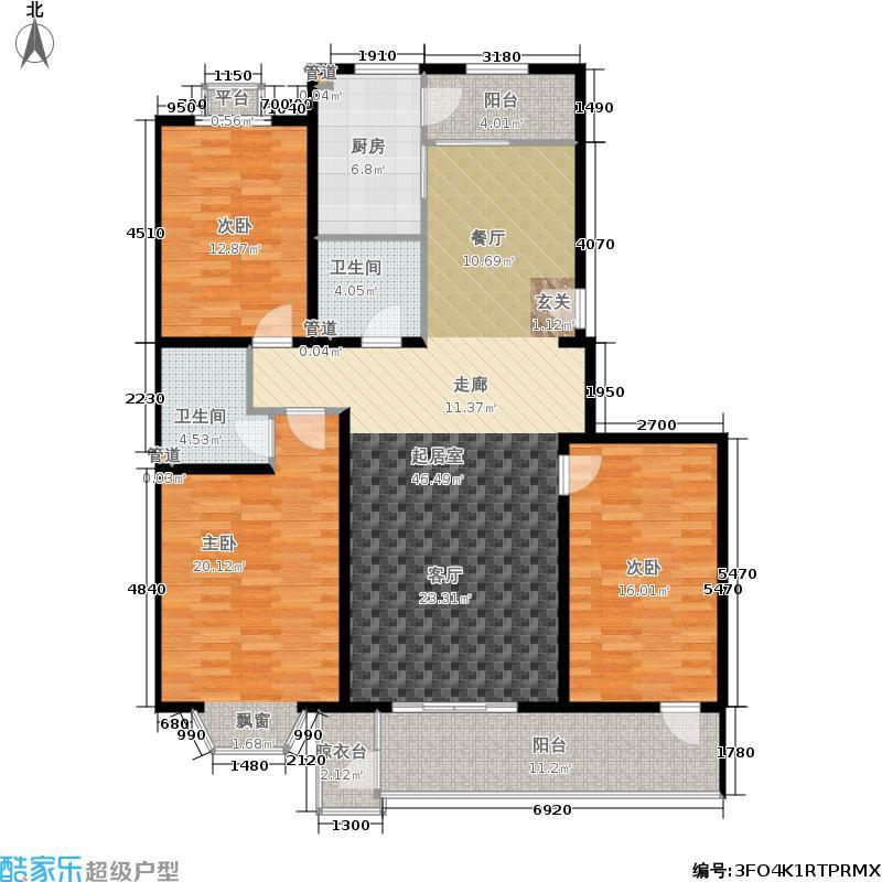 世界名园(燕都国际文化生态社区)138.74㎡A1/AX户型3室2厅