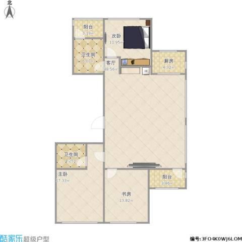 山大宿舍3室1厅2卫1厨151.00㎡户型图