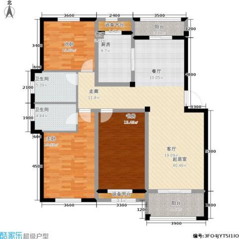 中亚・东方名都3室0厅2卫1厨111.03㎡户型图