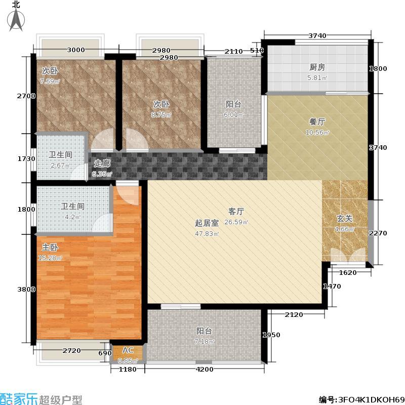 香山福久源138.82㎡C1户型