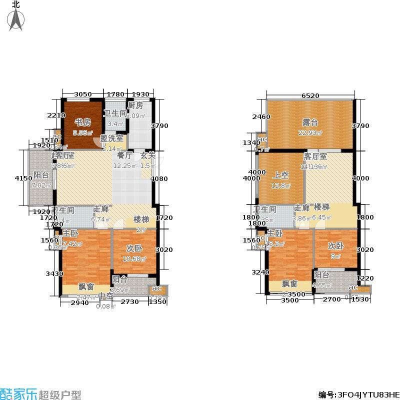 佳源优优花园174.00㎡多层电梯洋房顶层复式带大露台户型