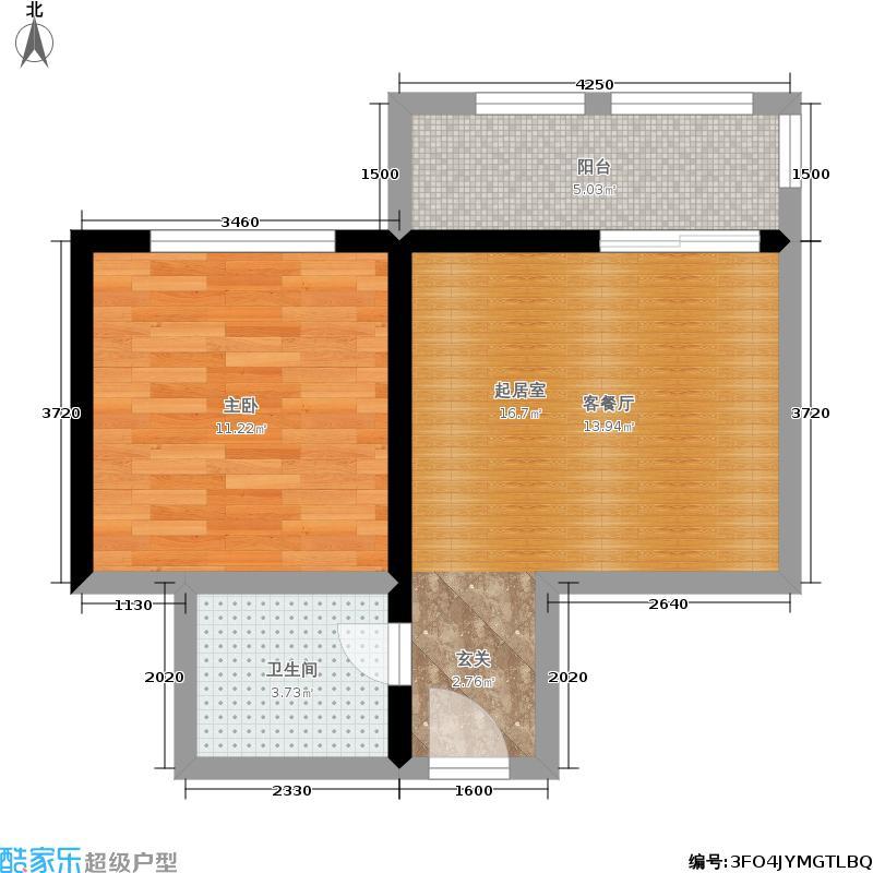 金宇蓝苑43.84㎡户型