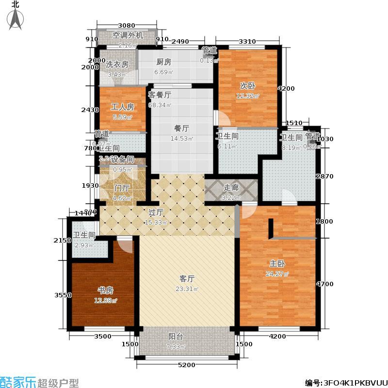香山四季201.00㎡5号楼G2户型3室2厅