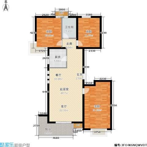 众成格林星城3室0厅1卫1厨121.00㎡户型图