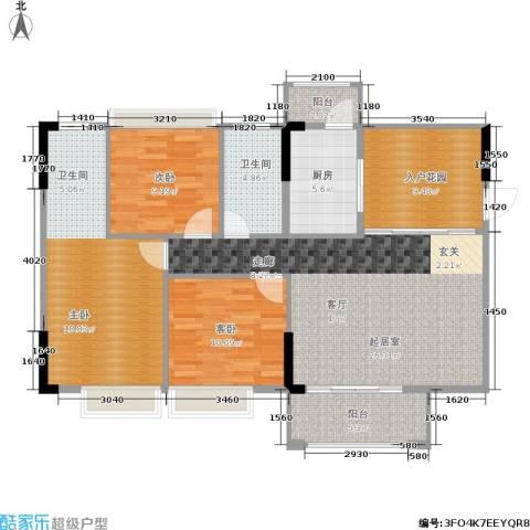 德洲城3室0厅1卫1厨116.00㎡户型图