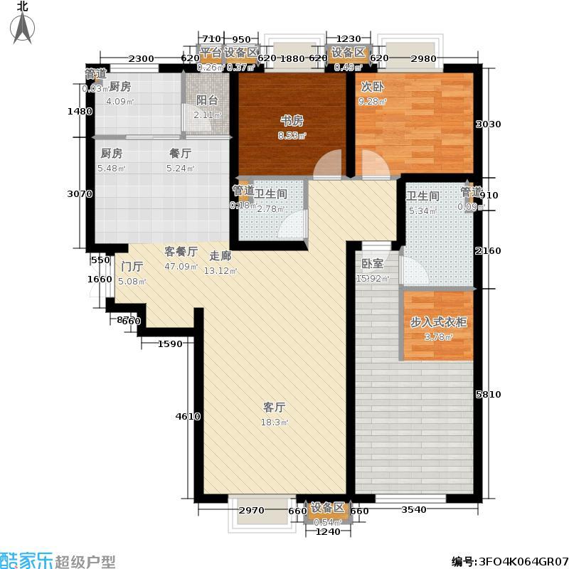 廊和坊·金融街134.00㎡廊和坊・金融街E-3户型