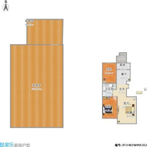 宝地・曼哈顿2室1厅1卫1厨434.00㎡户型图