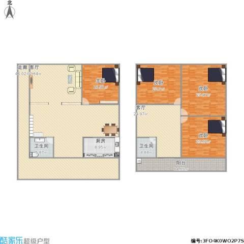 奕翠园4室2厅2卫1厨353.00㎡户型图