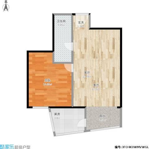 飘HOME1室1厅1卫1厨55.00㎡户型图