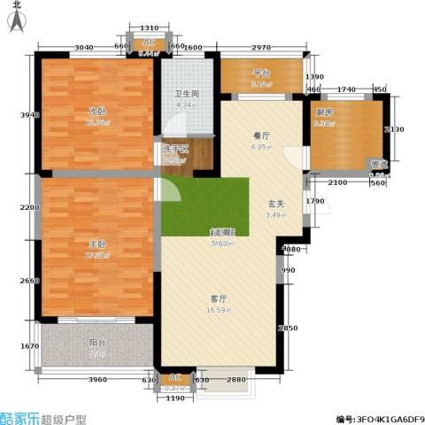 英祥承德公馆2室0厅1卫1厨97.00㎡户型图