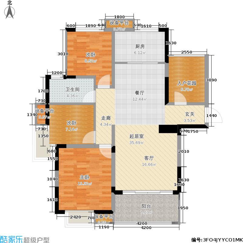 香江丽景110.82㎡三期C02号楼全18层C1户型