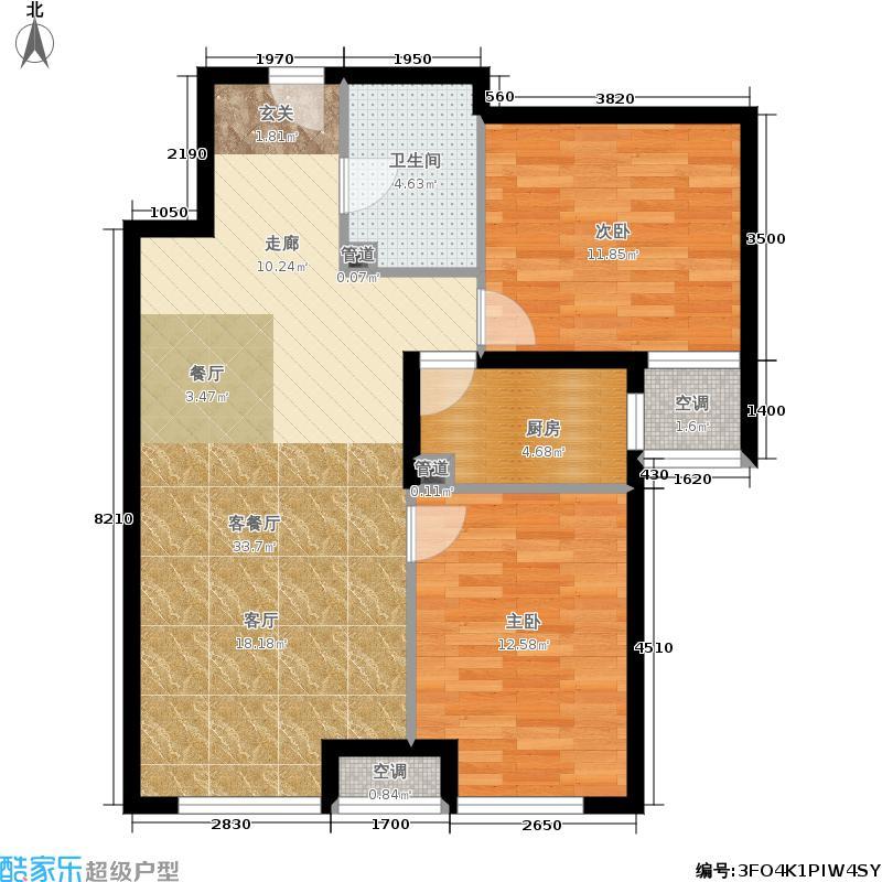 润景园88.00㎡I-2a户型2室2厅
