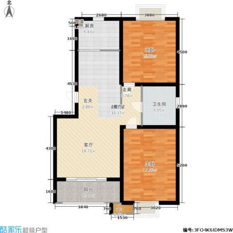 潍坊花样年华2室0厅1卫1厨98.00㎡户型图