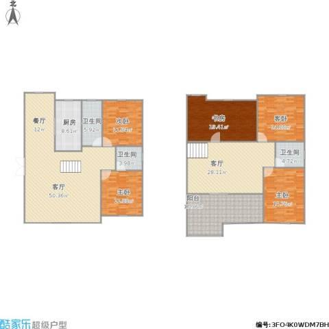 苏港大厦5室2厅3卫1厨251.00㎡户型图