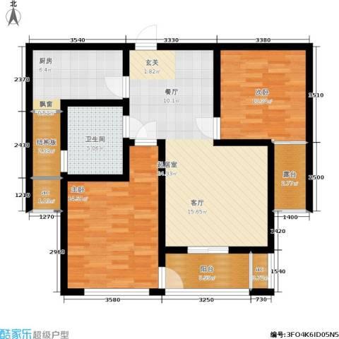 潍坊花样年华2室0厅1卫1厨85.00㎡户型图