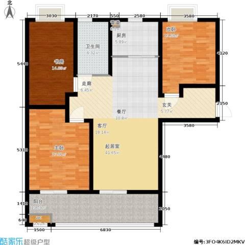 潍坊花样年华3室0厅1卫1厨129.00㎡户型图