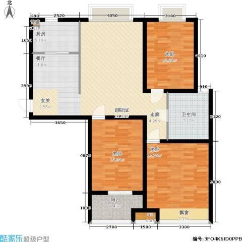 潍坊花样年华3室0厅1卫1厨113.00㎡户型图
