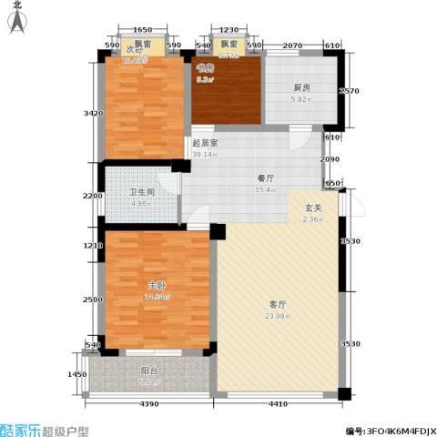 富海・城市印象3室0厅1卫1厨122.00㎡户型图