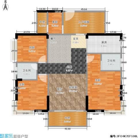 德洲城4室0厅2卫1厨131.00㎡户型图