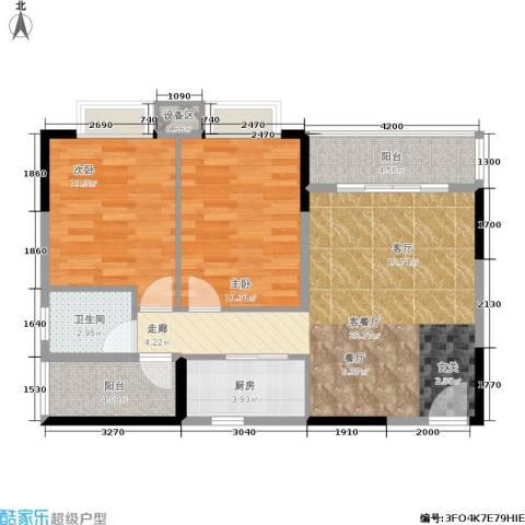 橡墅2室1厅1卫1厨89.00㎡户型图
