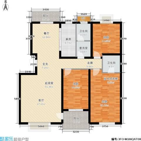 众成格林星城3室0厅2卫1厨143.00㎡户型图
