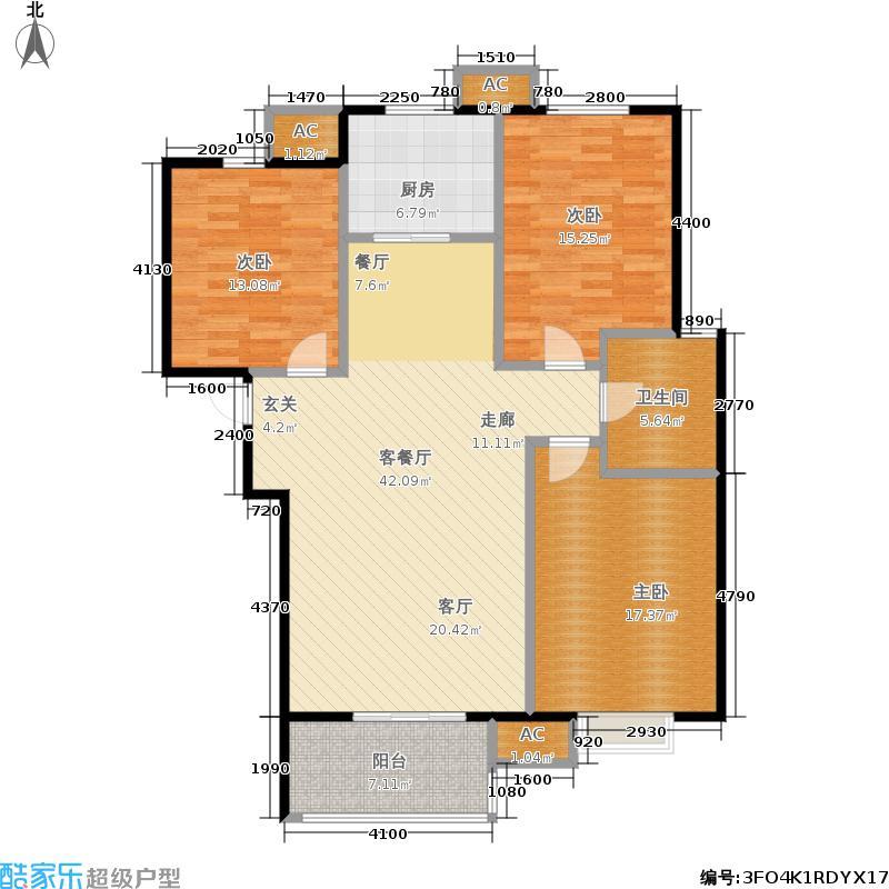天顺家园118.18㎡二期8、9号楼G1户型3室2厅