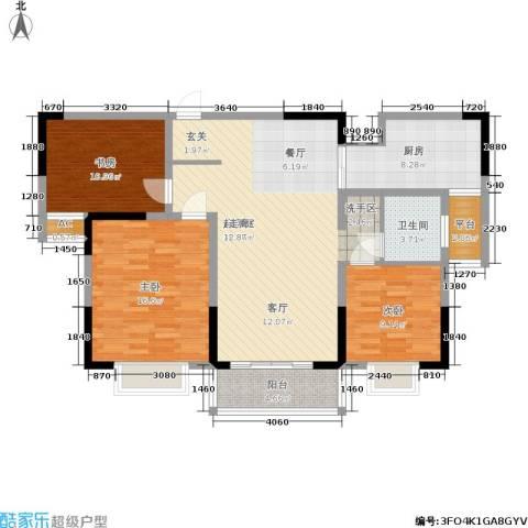 英祥承德公馆3室0厅1卫1厨105.00㎡户型图