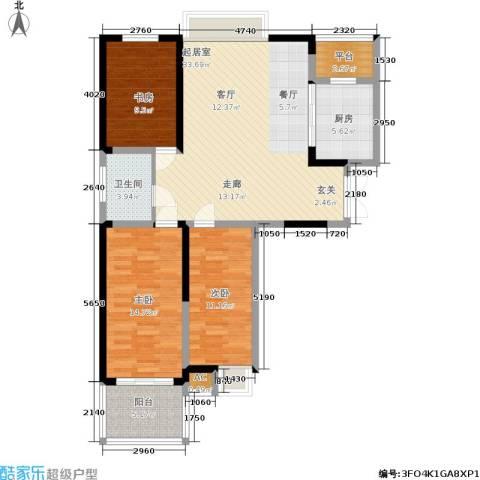 英祥承德公馆3室0厅1卫1厨99.00㎡户型图