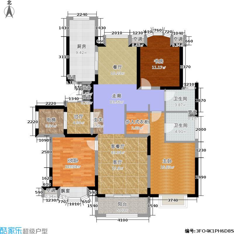 西郊紫薇花园141.00㎡B户型3室2厅