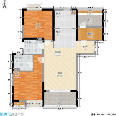 南山国际社区2室0厅2卫1厨106.00㎡户型图