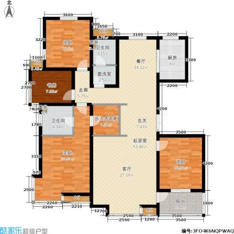 众成格林星城4室0厅2卫1厨175.00㎡户型图