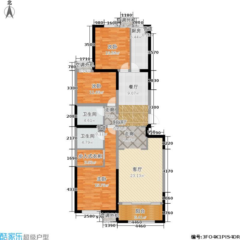 华远和墅雅园133.31㎡J-1户型3室2厅