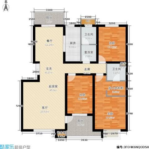 众成格林星城3室0厅2卫1厨141.00㎡户型图
