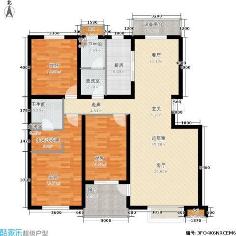 众成格林星城3室0厅2卫1厨142.00㎡户型图
