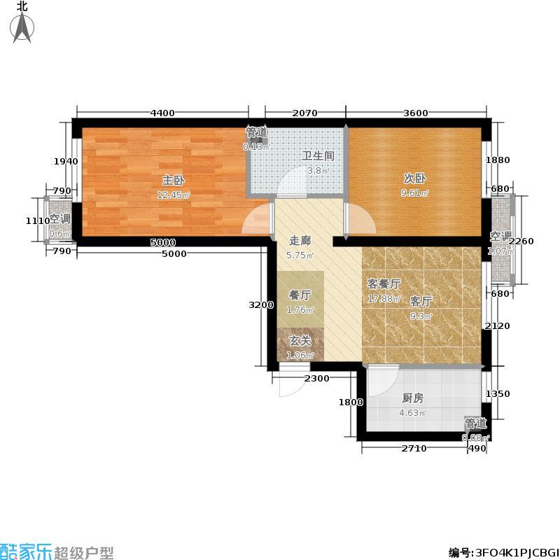 中国铁建兴盛馨苑75.00㎡13、14号楼5Aa户型2室2厅
